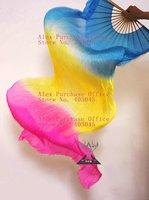 free shipping custom made 3 colors dance fan veil/belly dance fan veil/silk fan veil/belly dance accessory