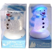 Free shipping for 7 colors led light USB Snow Man ,USB gift ,Christmas gift,100 pcs