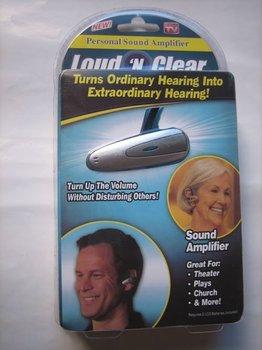 Loud N Clear Sound Amplifier Hearing Aid As Seen On TV 20pcs/lot