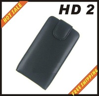 Free shipping --New high quality leather case cellphone for HTC HD2