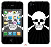 Cell phone skin, color sticker for iphone 4, phone cover, retail packing,20pcs/design, 200pcs/order, accept OEM
