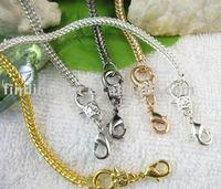 FREE SHIPPING 50PCS Mix Color Lace Lock Necklace chain necklaces 40cm