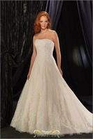 Free shipping generous appliques sexy v neck mermaid wedding dress low back  e color free HY-15892