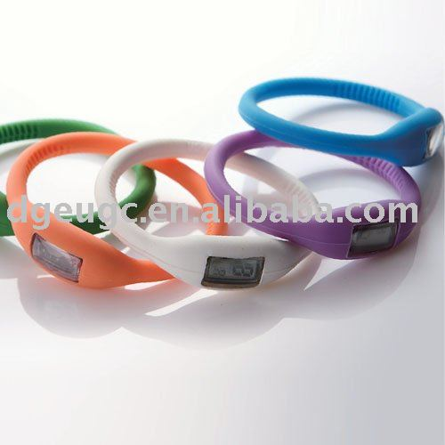 silicone watch 1ATM Free Shipping(China (Mainland))