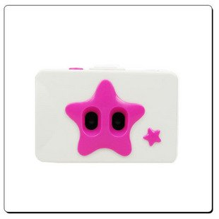 "Free shipping Lomo ""Twin Star"" 35mm 2 lens Action Film Camera White /  Pink"