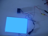 A5(210mm X 148mm)-off white/ on blue EL Panel Sheet Pad Back Light Display Backlight