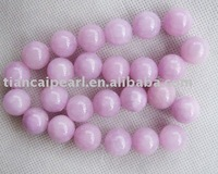 Free ship 14mm  purple round candy jade beads