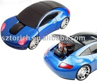 EMS Free Shipping 2.4G Novelty Wireless Car Optical Gift Mouse with Mini Receiver