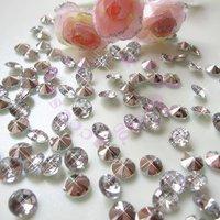 Free shipping Silver  (1000pcs 6.5mm 1Carat) Acrylic Crystal Diamond Confetti Wedding Table Vase Decoration