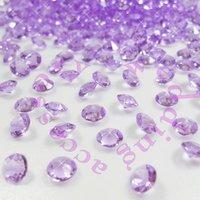 Free shipping LAVENDER  LILAC (1000pcs 6.5mm 1Carat) Acrylic Crystal Diamond Confetti Wedding Table Vase Decoration