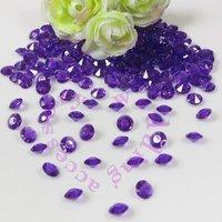 New 2014  ROYAL PURPLE DEEP PURPLE (1000pcs 6.5mm 1Carat) Acrylic Crystal Diamond Confetti Wedding Table Vase Decoration