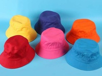 Hot Cotton children's hats girls and boys bucket hats outdoor hats wholesale Free shipping