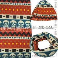wool Neck Warmers multifunction headwear tube winter scarf  skull design 2010 newest fashion