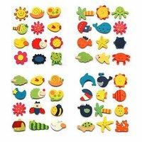 500pcs/lot cute wooden cartoon animals fridge magnet wholesale Free Shipping