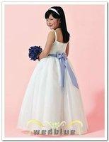 Free shipping 100% gurantee custom-made stylish cute ruffle ball gown white beautiful princess flower girl dresses  FL-1435