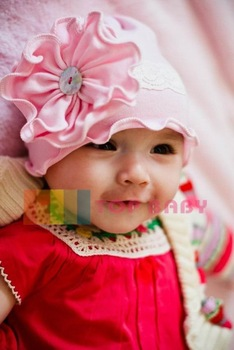 Top Baby hats headband barrette headgear kids berets chapeau dicer beanie hair clips --CL555