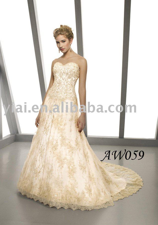 2011 latest elegant style strapless white strapless A-line bridal gowns(China (Mainland))