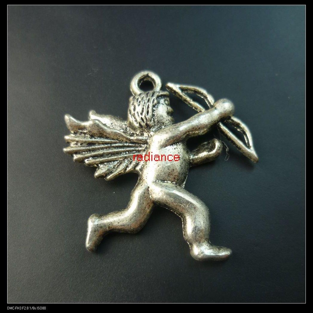 140pcs lot tibet silver Cupid charms 28x26mm FREE SHIPPING