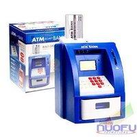 FREE SHIPPING ATM Toy Bank with VIP Card - Calculator Also,tin coin bank,money box,money bank,saving money,saving bank,coin box,
