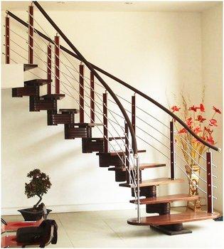 Wood Steel Stair