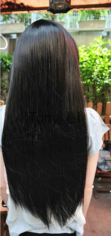 free shipping wig Quiet girl hairstyle Long straight hair B - 13(China (Mainland))
