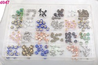 Crystal Charm Bead Classify Intake Display Case Box d047