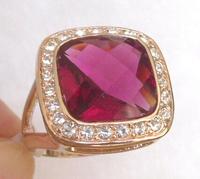 Ring.Size 9(S),10(U),Free shipping. Provide tracking . Garnet & White Topaz 18K GP White Gold Men's Ring.Fashion jewelry.