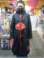 New Anime costumes Naruto akatsuki cosplay cloak Free Shipping size S M L XL XXL
