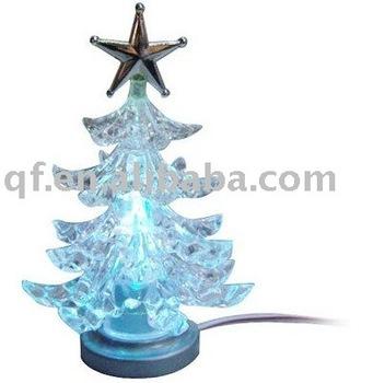 fUSB 7 Color Crystal Christmas Tree,X'mas Tree,Christmas Decoration Gift