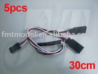 F00854-5 300MM 30CM Servo Y Extension Wire Cable For Futaba JR Receiver,RC Car, Plane and Heli  + Free shipping