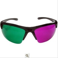 3D stereoscopic 3D glasses, 3D movie glasses half-frame glasses (red and green)