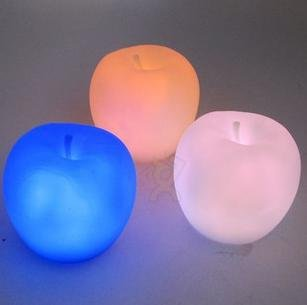 free shipping new latest arrival colorful candle lights patted Apple Motion LED christmas toy gift(China (Mainland))
