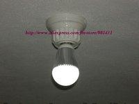 Free shipping! 10pcs/ lot, E27 3W 260-Lumen 3500K Warm White LED Bulb - Silver + White (220V)