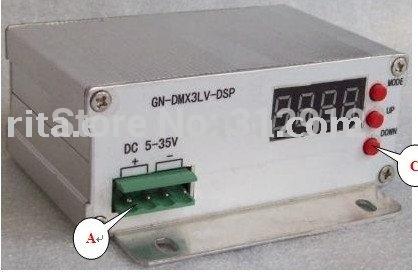 DMX512 decoder & driver;DC5V~35Vinput;MAX 10A*3 RGB output(China (Mainland))