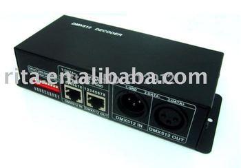 DMX512 decoder & driver;12~24V DC input;350mA Output