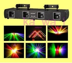 Pro 4 Lens RGPY DJ Laser Stage Light DMX FOR Xmas Party(China (Mainland))