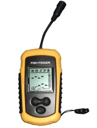 Depth Sonar Big LCD Fish Finder FishFinder Alarm 100M Free Shipping gift christmas(China (Mainland))