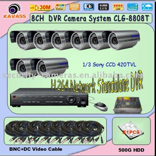 Good price 8ch waterproof camera dvr system CLG-8808T 8ch cctv system(China (Mainland))