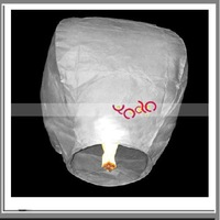 Free Shipping From USA! Pary Goods! High quality! White + Paper Sky Lantern