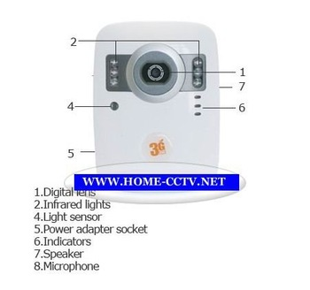 Free Shipping 3G video talk surveillance camera 3G eye