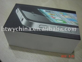 Free shipping 100pcs/lot For iphone 4 4G UK version packing box 16GB 32GB