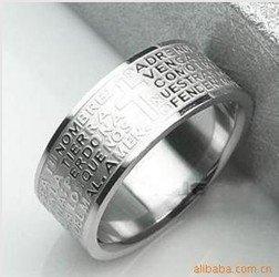 Titanium Bible Men's Stainless Steel Rings Best Seller(30pcs/lot)