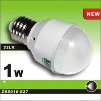 Wholesale&Retail new arrival 1W E27 LED light ZK warm white color