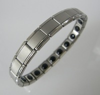 healthy anion energy bands germanium stainless steel bracelets with gift box 60pcs/lot