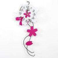 EMS free shipping wholesale and retail creative household deco flower shape art wall clock/ fashion wall clock