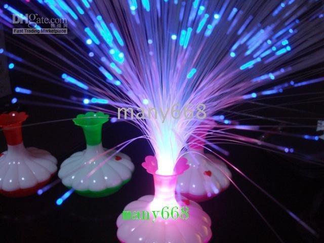 Gratis verzending, kleurrijke transformatie wholesale+30pcs fans glijbaan/decoratie lamp/speelgoed licht/led vaas licht