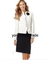Women's Suit, Custom Made Women Suits,  Flower Pin Jacket & Skirt, Accept   456