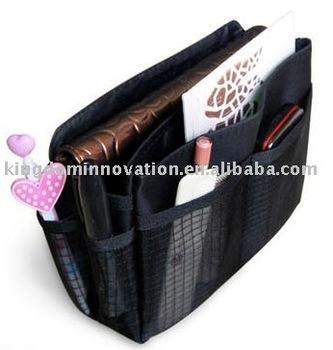 12 pcs/lot-[Free shipping]-Makeup/MP3 Phone Storage Organizer Multi Bag,Purse Handbag Organizer Insert,cosmetic bag