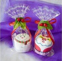Christmas gift Cute Christmas Santa cake Hand Towel ,Accept Paypal + Drop Shipping