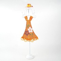 Free shipping belle with orange dress jewellery holder/ belle with green dress table ornament/ jewellery holder mannequin
